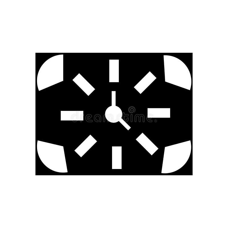 Kwartalny ikona wektor odizolowywający na białym tle, ćwiartka znak, czarni czasów symbole ilustracja wektor