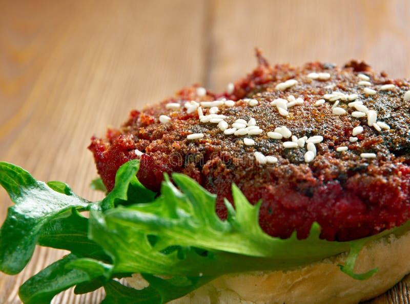 Kwartalny Pounder buraka hamburger zdjęcie stock