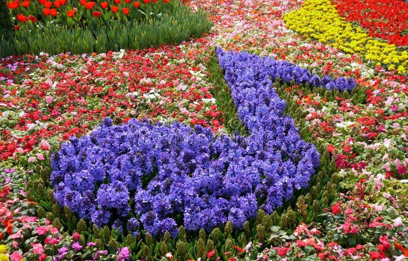 Kwartnoot die van bloemen wordt gemaakt royalty-vrije stock foto's