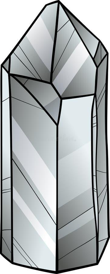 Kwarts of kristalbeeldverhaalillustratie