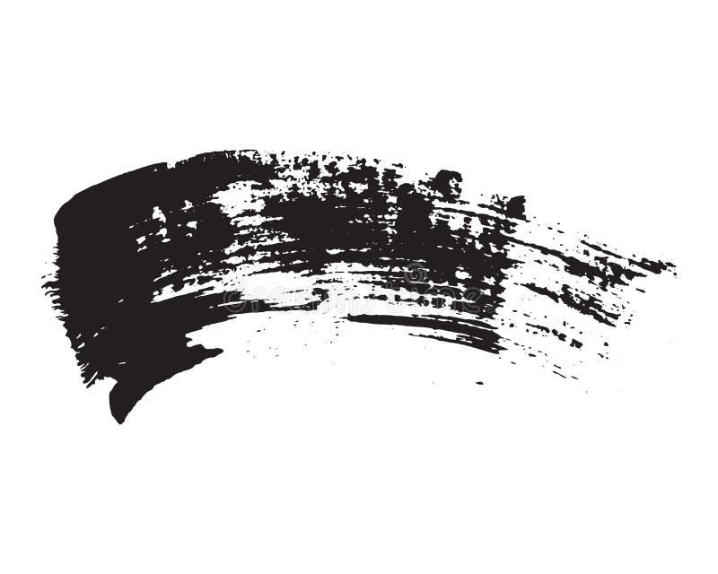 Kwaststreken Geplaatst hand getrokken grunge textuur vectordieillustratie op witte achtergrond wordt geïsoleerd royalty-vrije illustratie