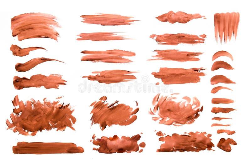 Kwaststreken met waterverfverf op document Kwaststreken met waterverfverf op papier royalty-vrije stock afbeeldingen