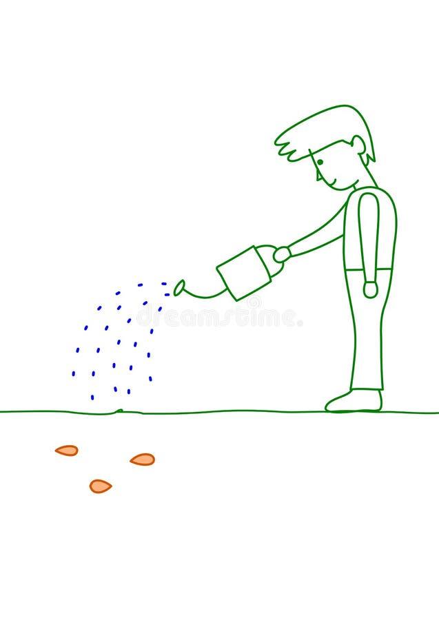 Kweek de zaden stock illustratie