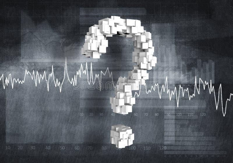 Kwestie van de financiële groei, het 3d teruggeven vector illustratie