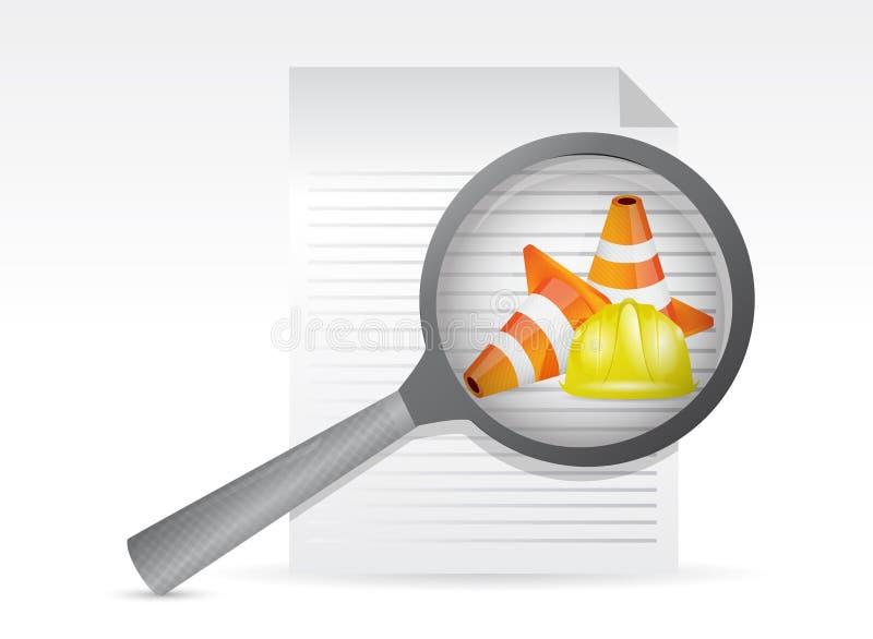 Kwesties op een document royalty-vrije illustratie