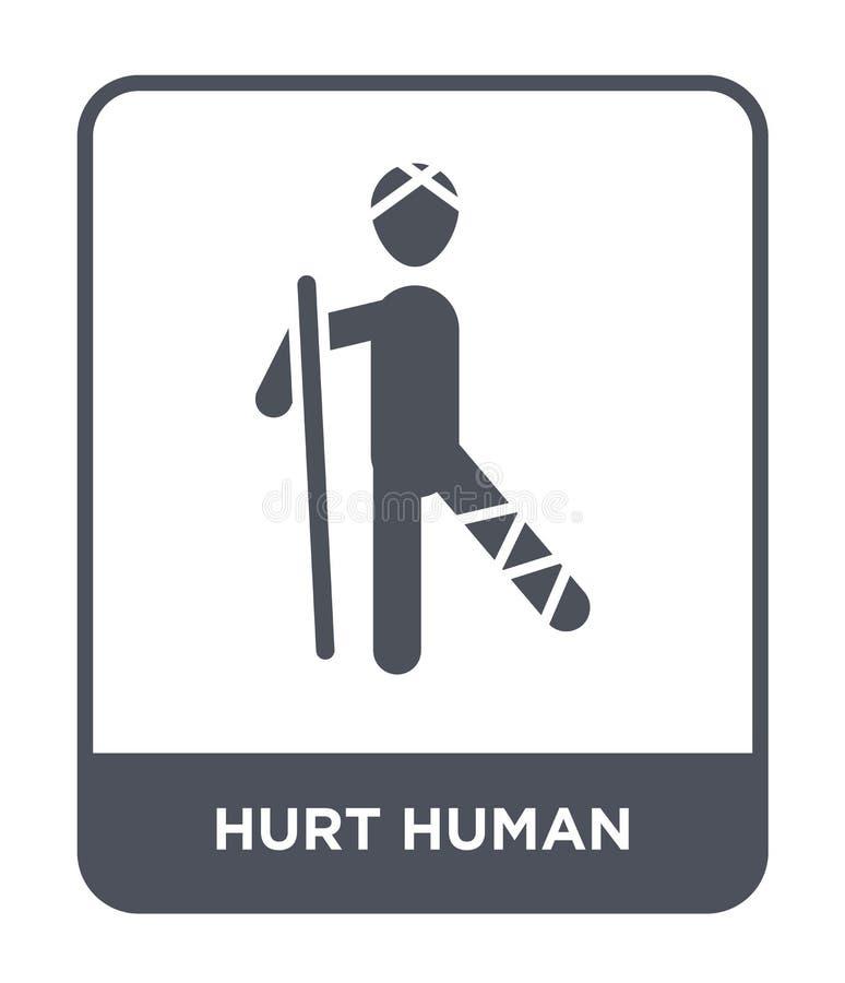 kwets menselijk pictogram in in ontwerpstijl kwets menselijk die pictogram op witte achtergrond wordt geïsoleerd kwets menselijk  stock illustratie