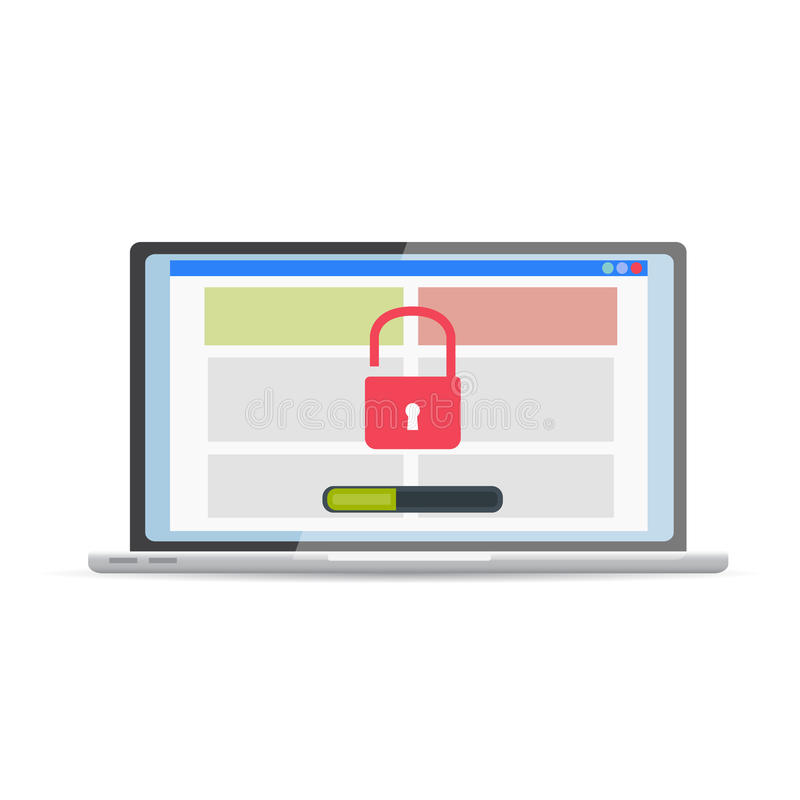 Kwetsbaarheidsonderzoek SEO-optimalisering, Webanalytics, programmin royalty-vrije illustratie