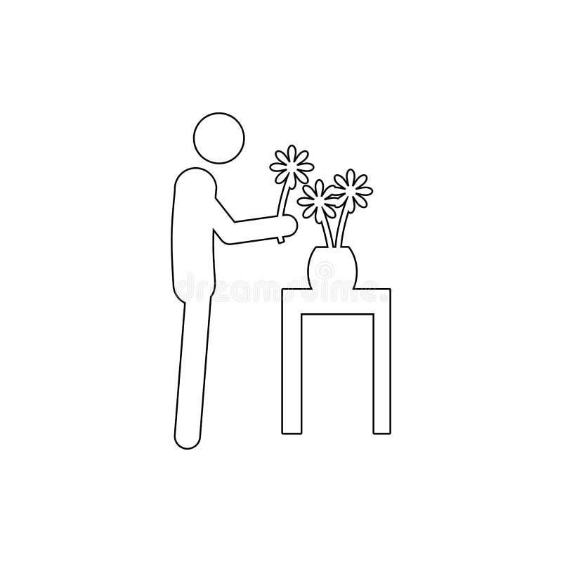 Kwiaciarni ikona Element cyber ochrona dla mobilnego pojęcia i sieci apps ikony Cienka kreskowa ikona dla strona internetowa rozw ilustracji