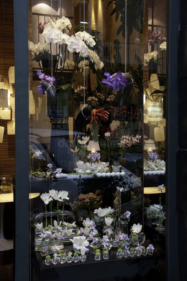 kwiaciarni okno obraz royalty free