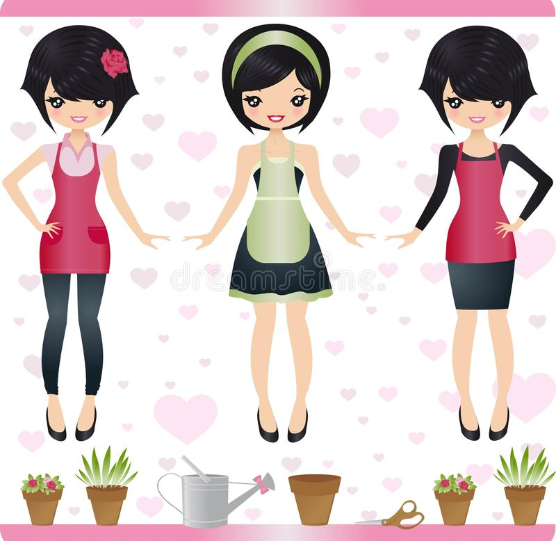 kwiaciarnia royalty ilustracja