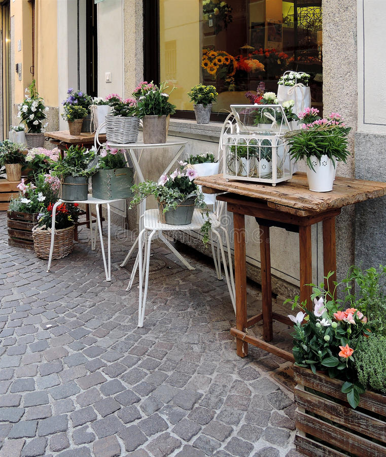 Kwiaciarnia sklep fotografia royalty free
