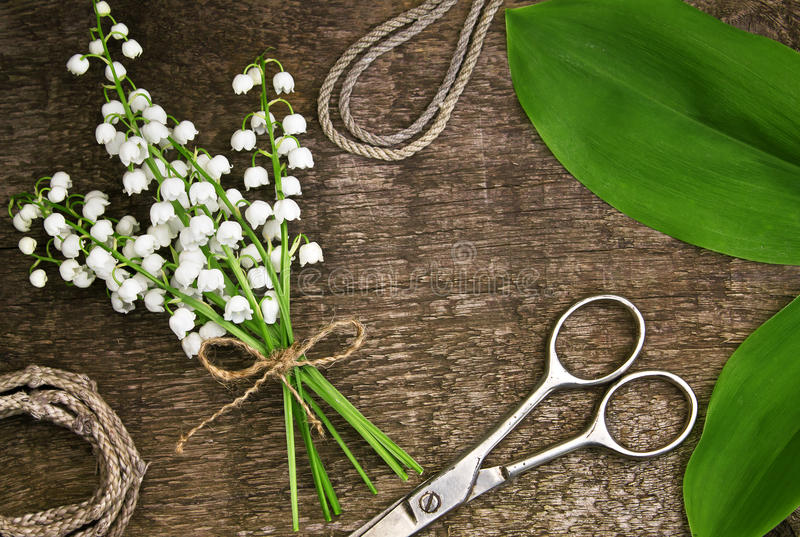 Kwiaciarnia stół fotografia stock