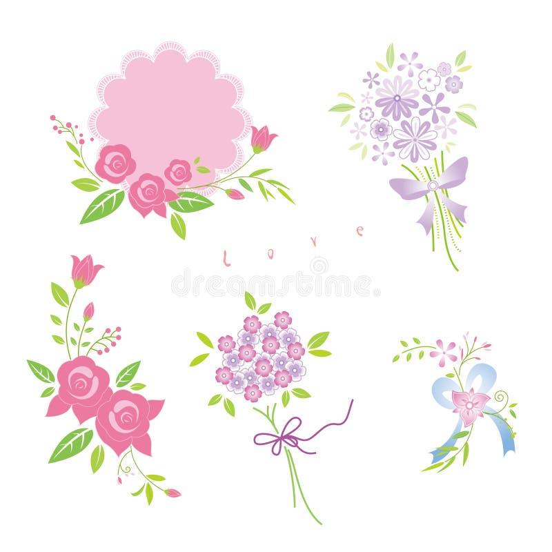Kwiatów bukiety ilustracji