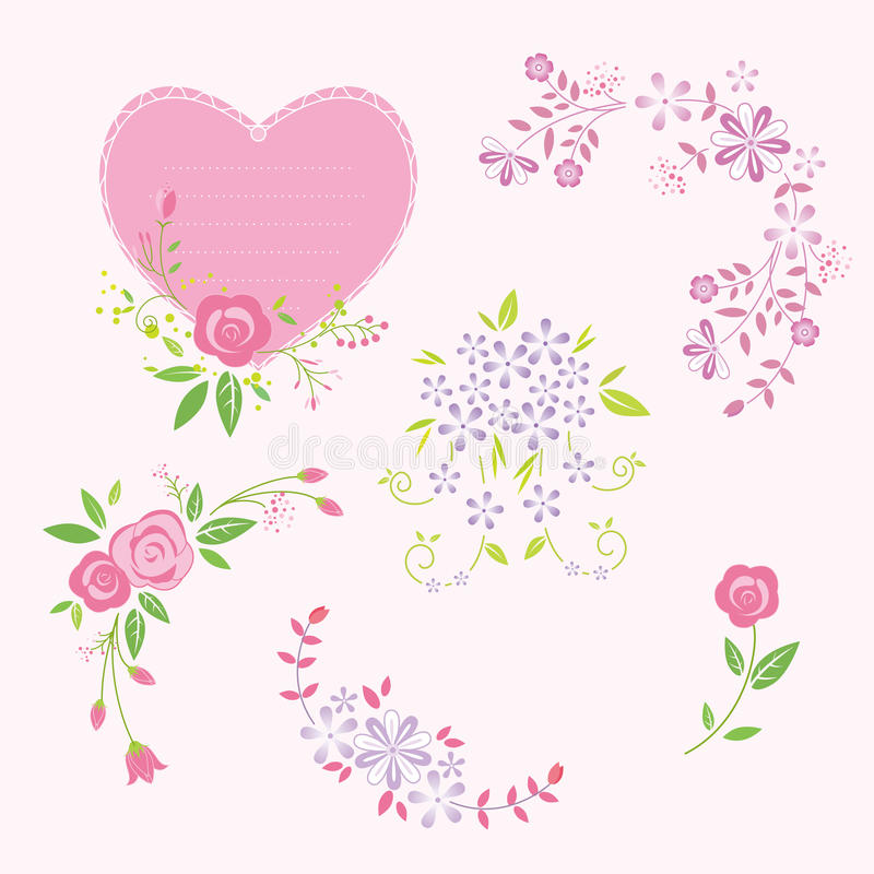 Kwiatów bukiety royalty ilustracja