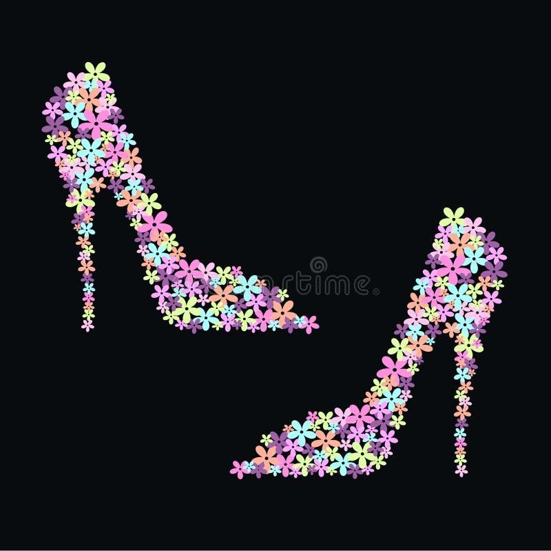 kwiatów buty royalty ilustracja