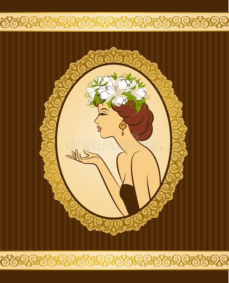 kwiatów dziewczyny sylwetka ilustracji