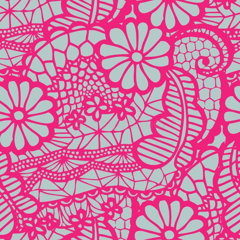kwiatów koronki wzór bezszwowy ilustracja wektor