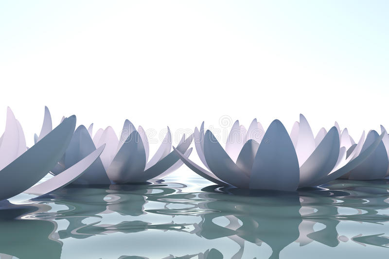 kwiatów loto wody zen ilustracji
