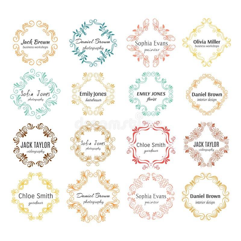 Kwiatów ręka kreślący kształty dla oznakować royalty ilustracja