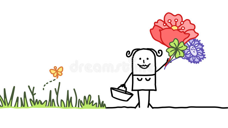 kwiatów target845_1_ royalty ilustracja