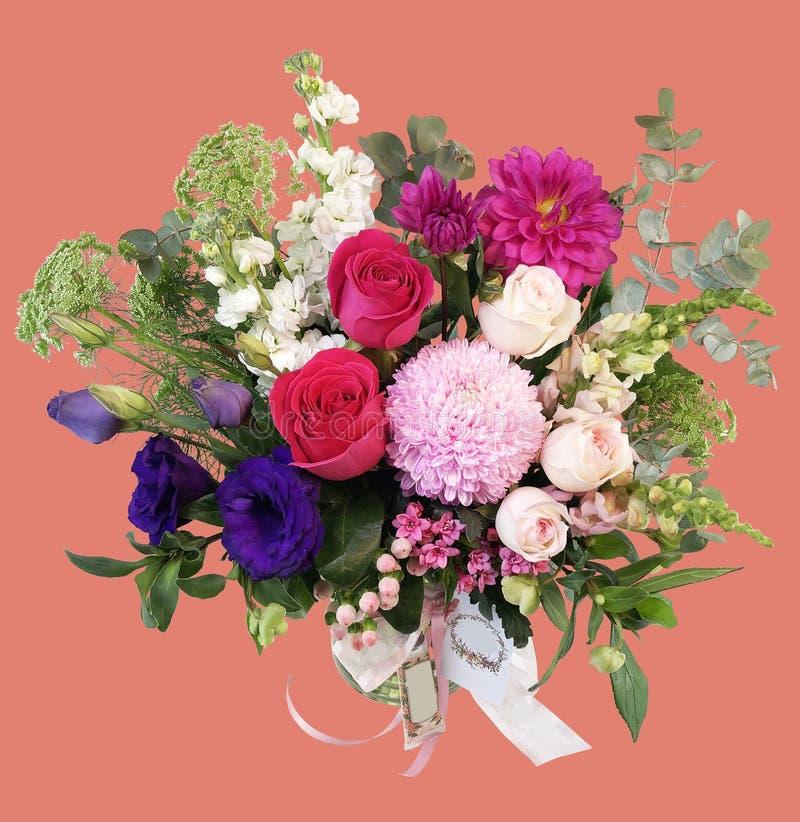 10 kwiatów w jeden wazie obraz stock