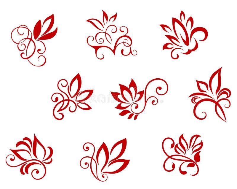 kwiatów wzory royalty ilustracja
