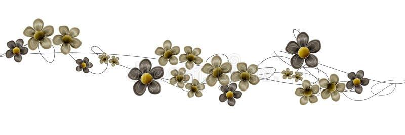 kwiatów zawijasy ilustracji