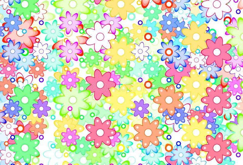 kwiat abstrakcjonistyczna śliczna wiosna ilustracja wektor