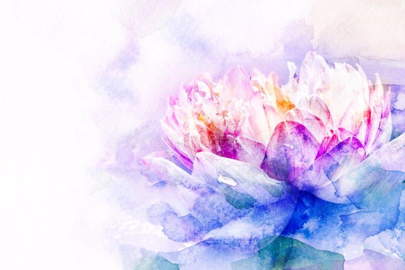 Kwiat akwareli ilustracja royalty ilustracja