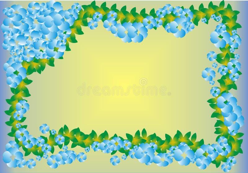 kwiat błękitny rama royalty ilustracja