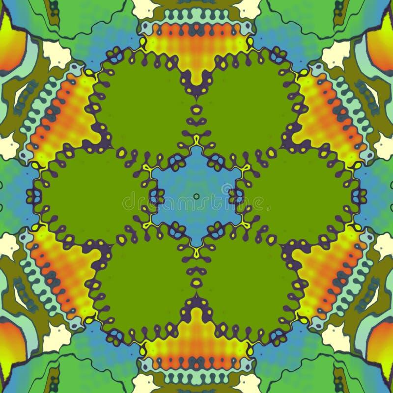 Kwiat cyfrowa sztuka z lekkich kolorów skutkami ilustracja wektor