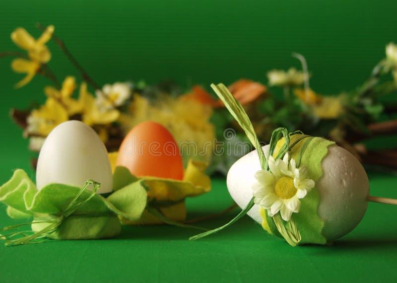 kwiat dekoracji Wielkanoc jaj obrazy royalty free