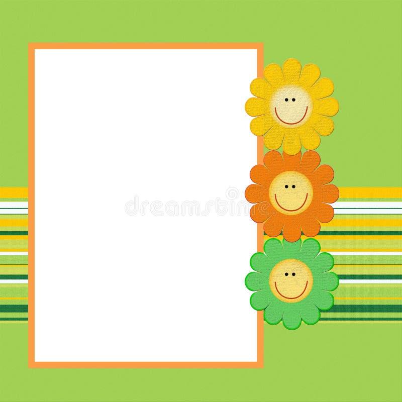 kwiat dekoracyjna rama ilustracji