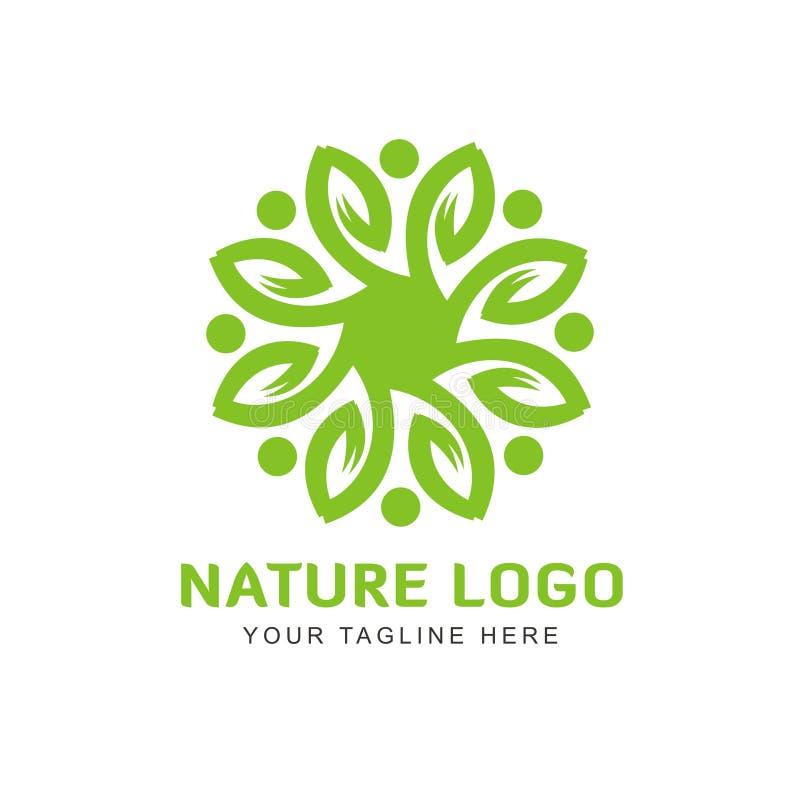 Kwiat dla natura logo Kosmetycznego projekta royalty ilustracja
