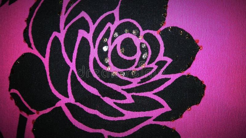 Kwiat drukujący odziewa ilustracja wektor