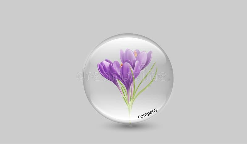 Kwiat firmy logo royalty ilustracja