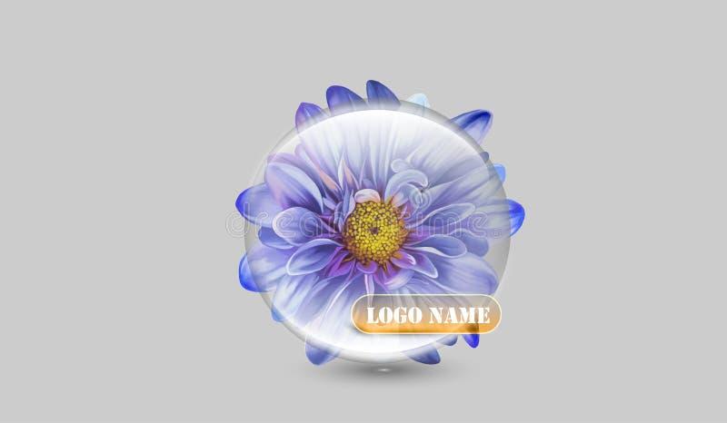 Kwiat firmy logo ilustracja wektor