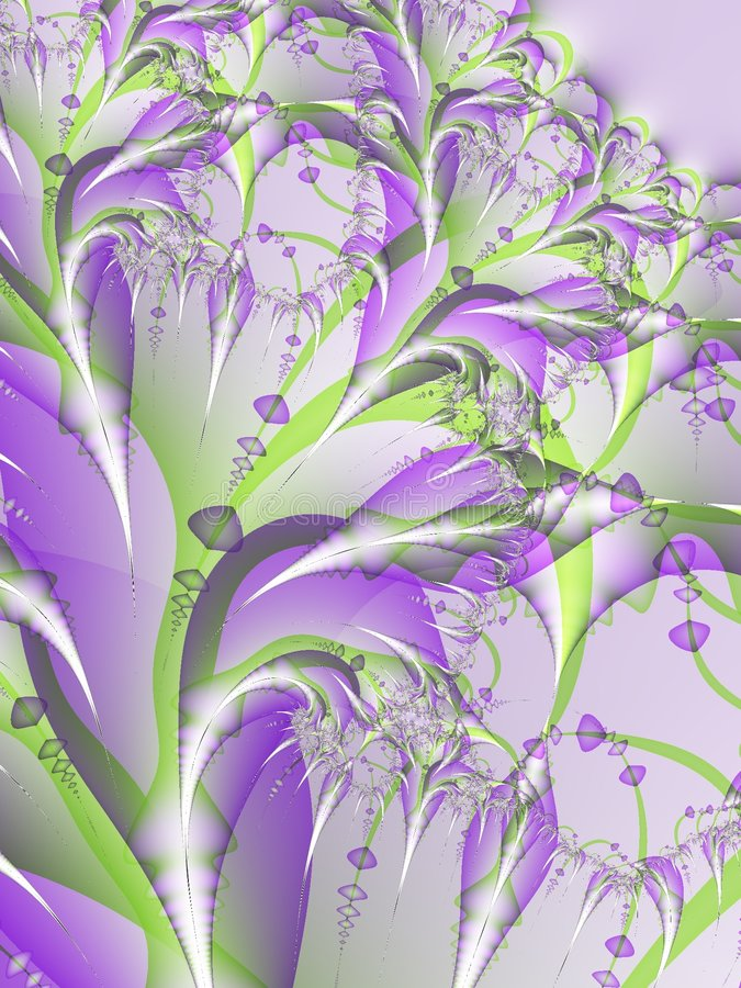 kwiat fractal fioletowy kwiat royalty ilustracja