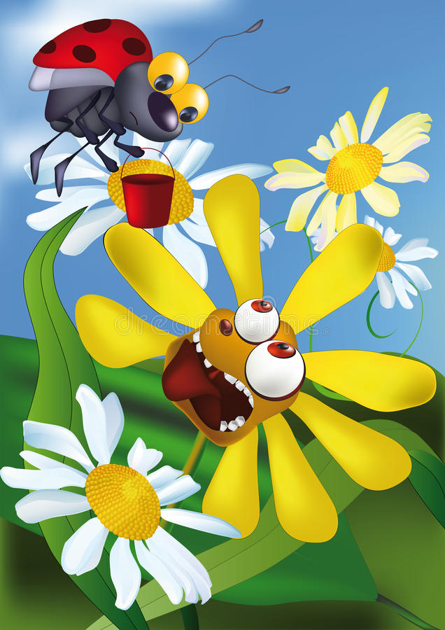 kwiat głodny royalty ilustracja