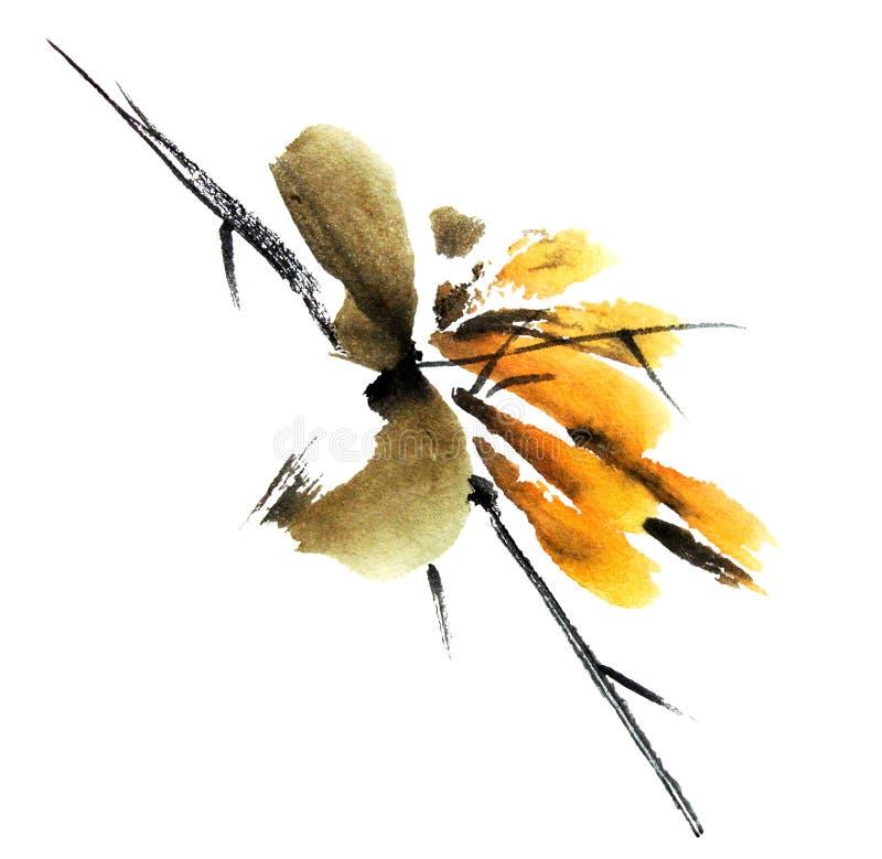 Kwiat gałąź ilustracji