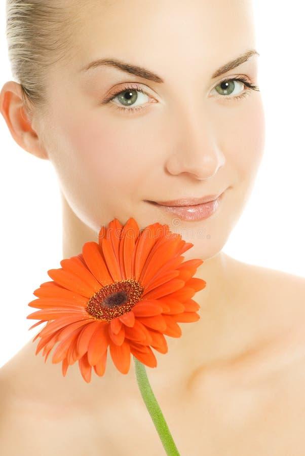 kwiat gerber kobieta obrazy stock