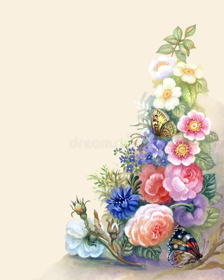 Kwiat Girlanda royalty ilustracja