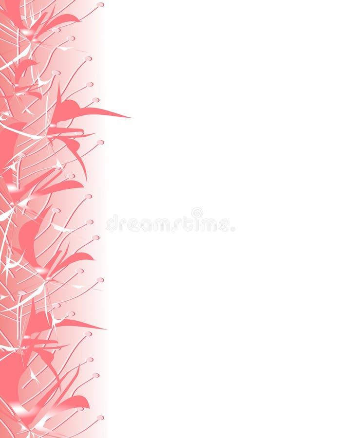 kwiat granic różowe zima ilustracja wektor