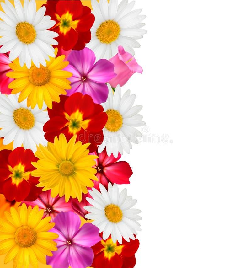 Kwiat granica. Wektor. ilustracja wektor