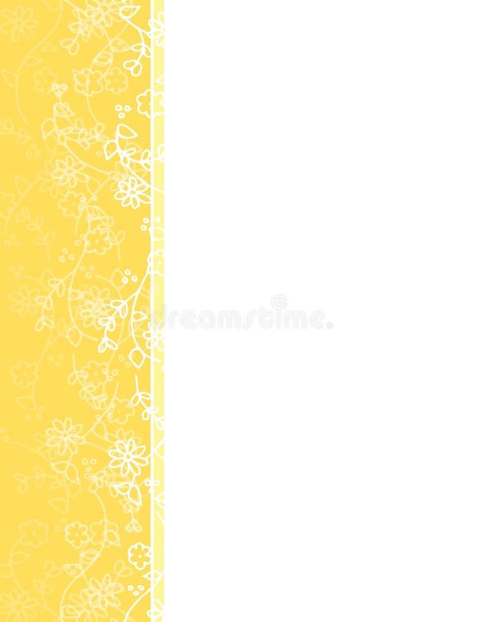 kwiat granicznego wiosny w lewo winorośli żółty ilustracja wektor