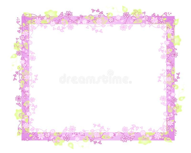 kwiat graniczny winorośli ramy wiosny royalty ilustracja
