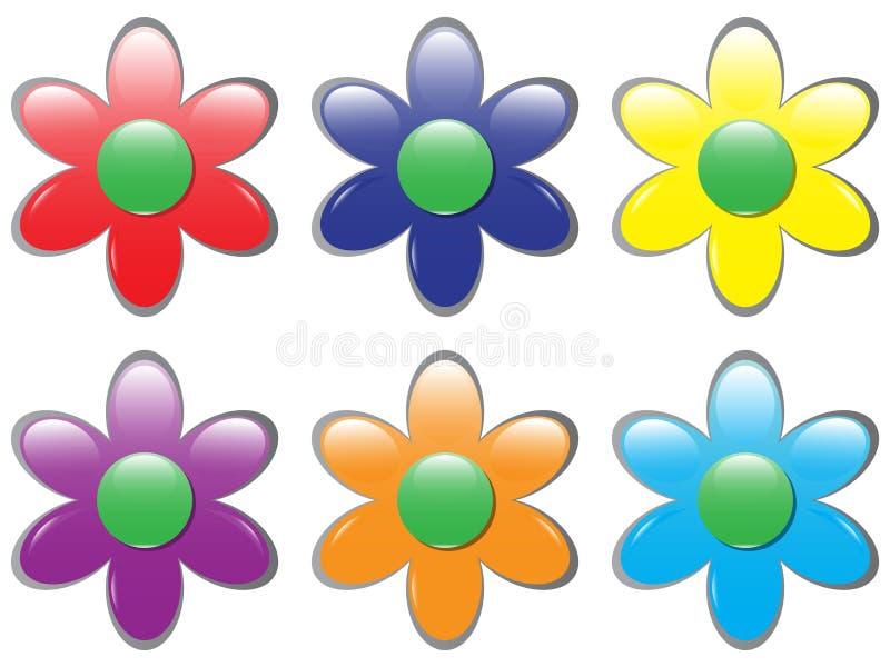kwiat guzik ilustracja wektor