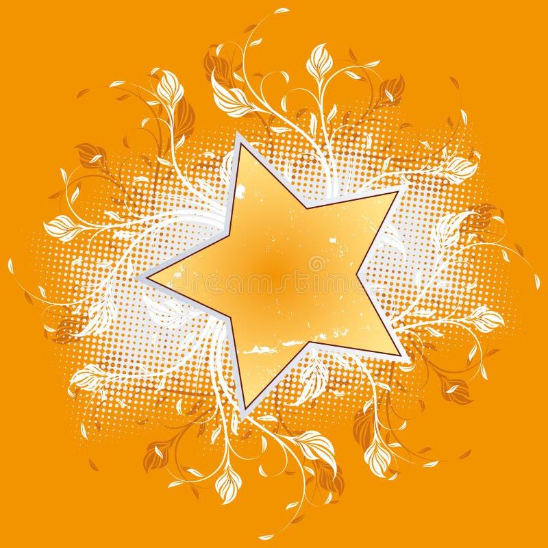 kwiat gwiazda royalty ilustracja