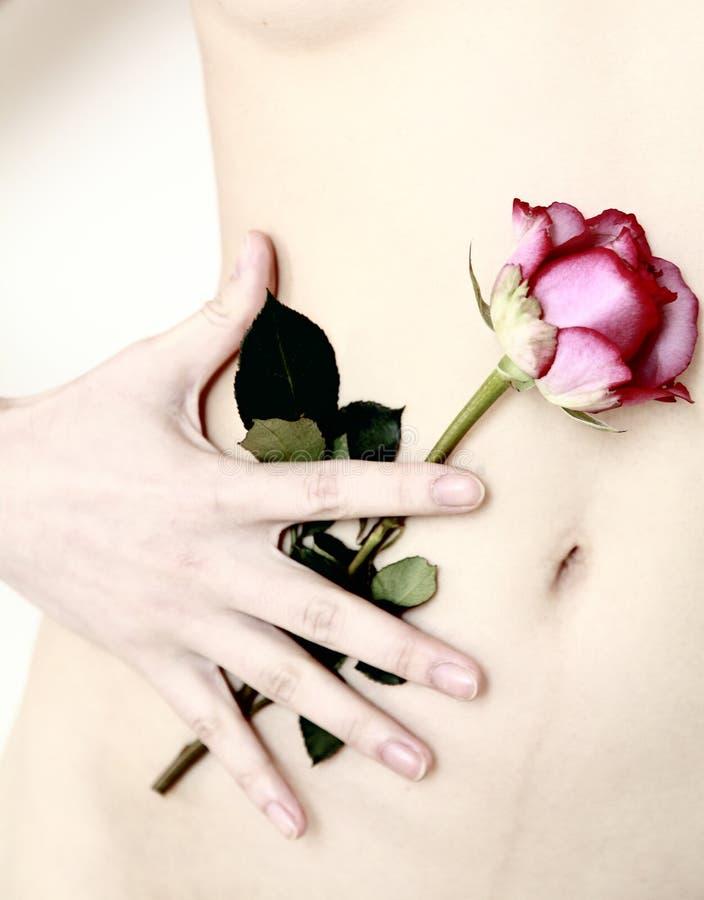 Kwiat i ciało obraz royalty free