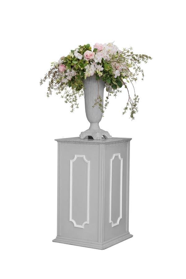 Kwiat i waza odizolowywający obrazy stock